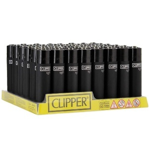 48 briquets Clipper Soft Touch Noir