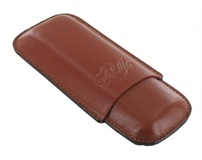 Etui double cigares Art et Volutes Maceo Tan