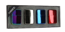Coffret classic de 4 briquets essences