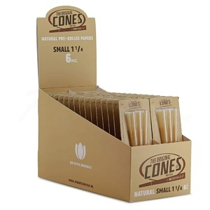 Display de 32 packs Cones Small Natural 8 cm