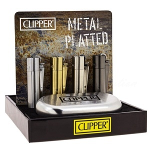 Display de 12 briquets Clipper mini métal