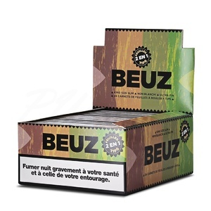 Feuille à rouler Beuz Brown Slim et Tips x 24